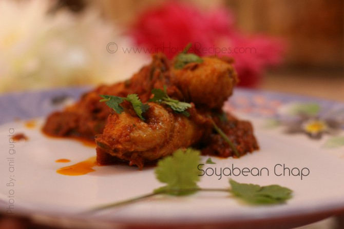 Soyabean chaap with gravy