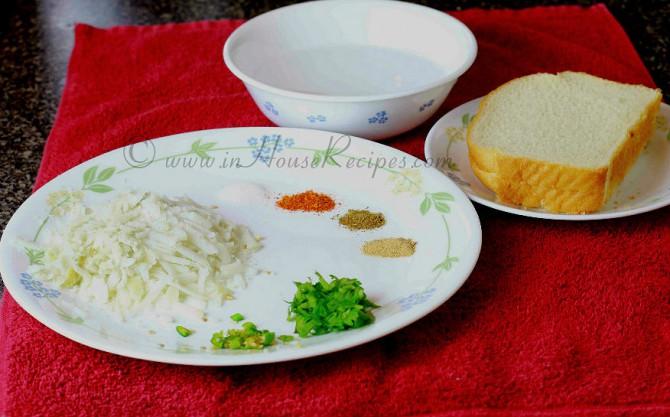Aloo bread roll ingredients