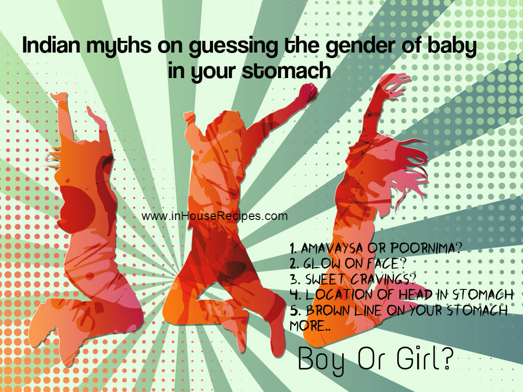 Indian myths guessing baby gender in pregnancy