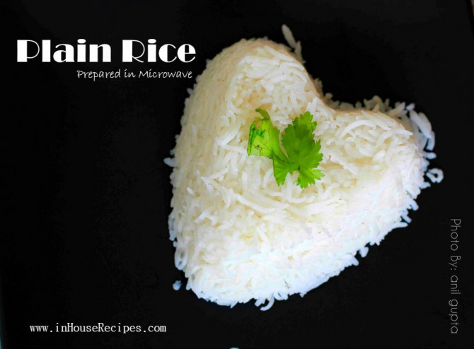 Plain steamed rice
