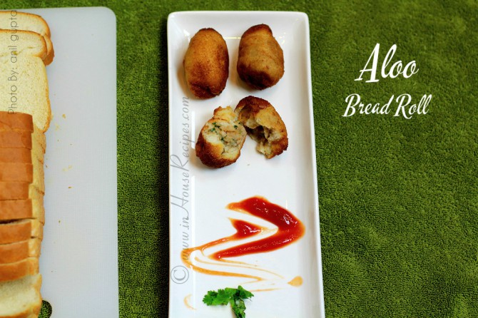 Restaurant style aloo bread roll recipe