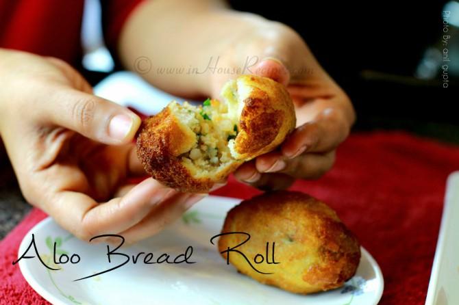 Serve hot aloo bread roll in morning breakfast