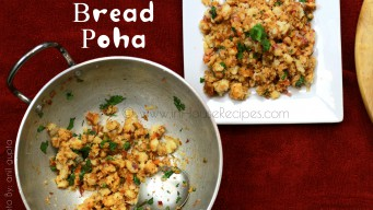 12 minute bread poha breakfast