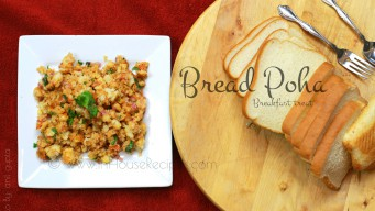 Bread poha for breakfast