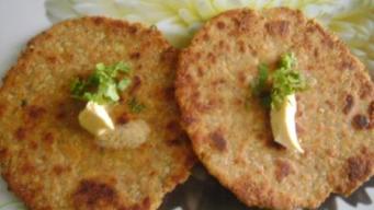 Gobi paratha with besan