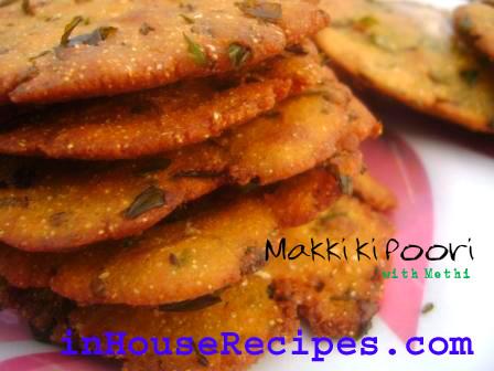 Methi poori with makki ka atta