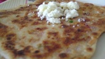 Onion Cheese paratha