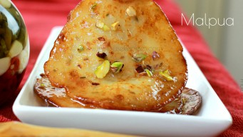 Sweet pancakes from India called Malpua