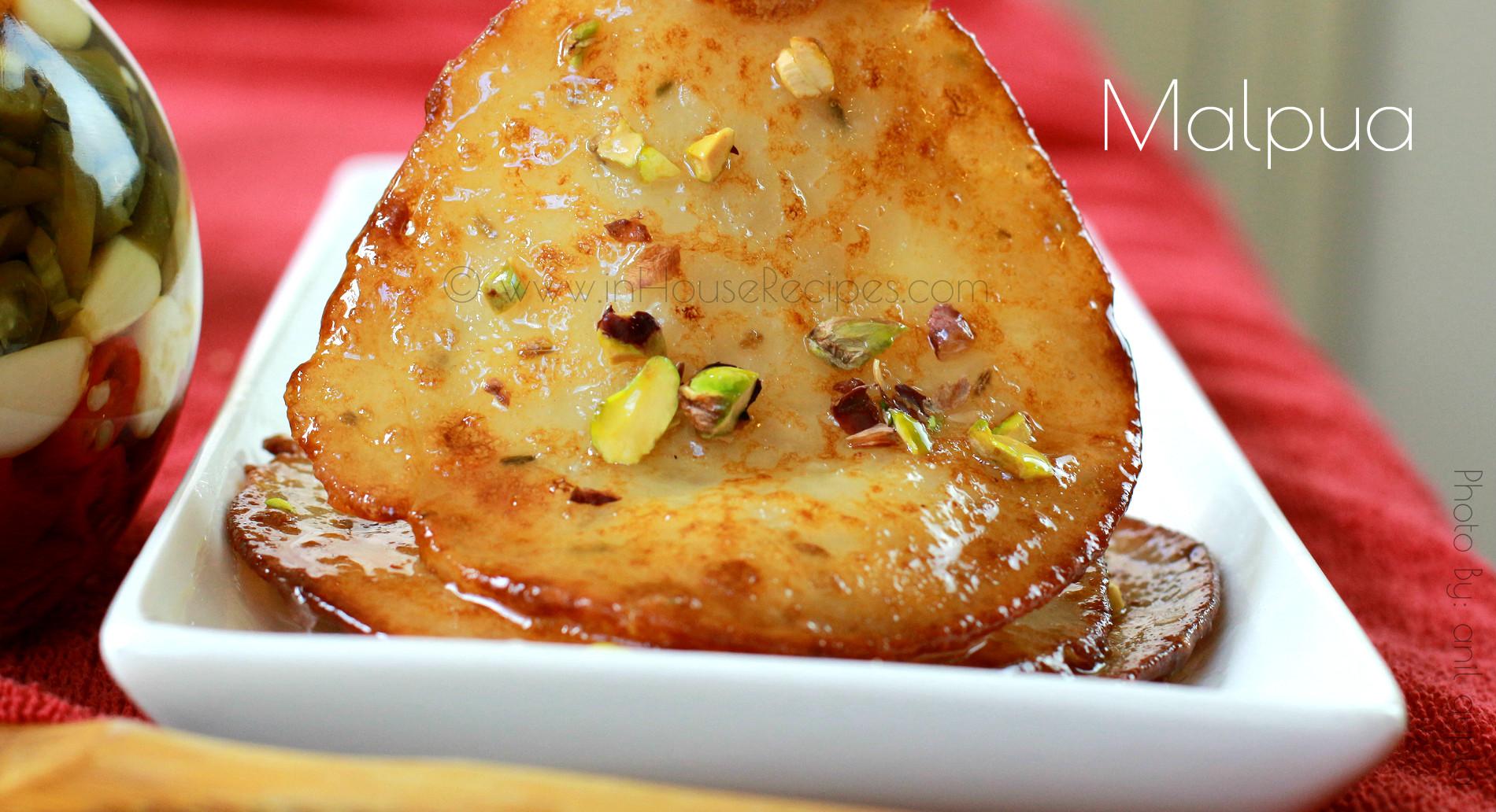 Sweet pancakes from India called Malpua