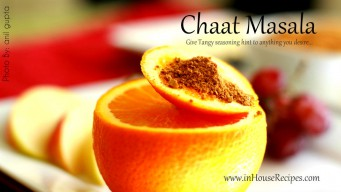 Chaat masala Indian recipe