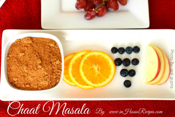 Chat masala to spice up fruit salad