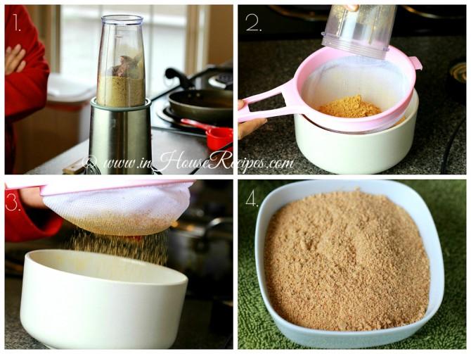 Grind to fine Sambar powder