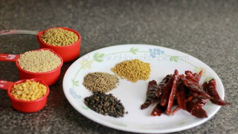 Ingredients for sambhar powder