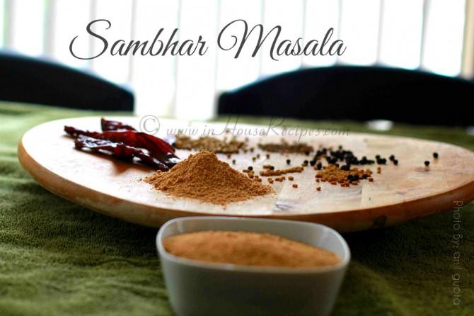 Mixture of dal – sambar powder