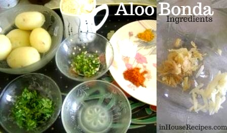 Ingredients for aloo bonda