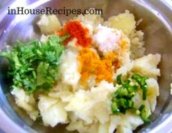 Mix all spices with potato
