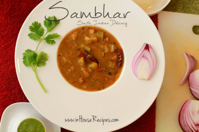 Sambar Recipe without Sambar Masala powder