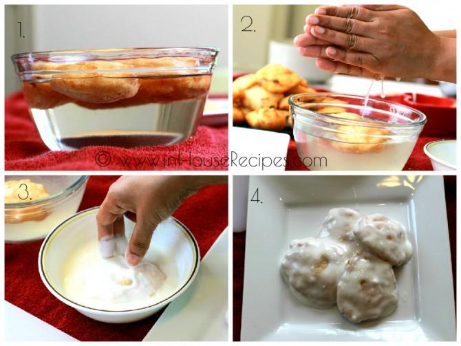 Dip vada in sweet curd