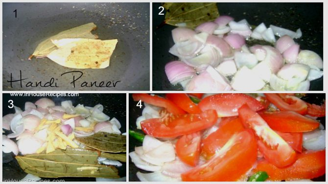 Handi paneer tadka preparation