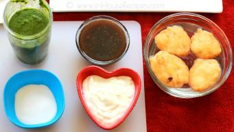 Ingredients to serve dahi vada