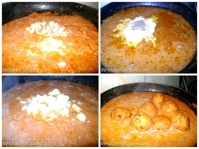 Add kofta in mughlai curry
