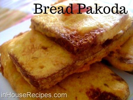 Besan bread pakoda plain