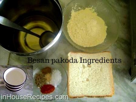 Besan pakoda Ingredients