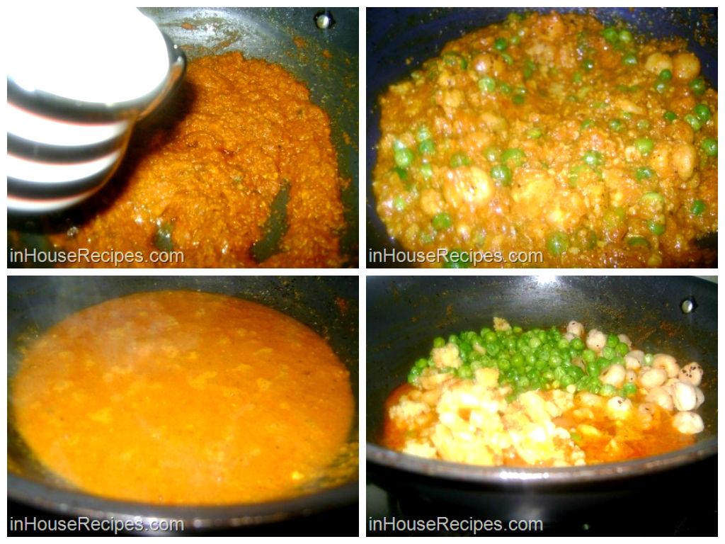 Gravy for khoya matar makhana