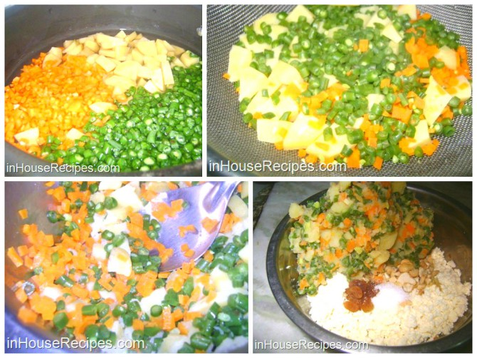 Making Paneer kofta for mughlai kofta curry