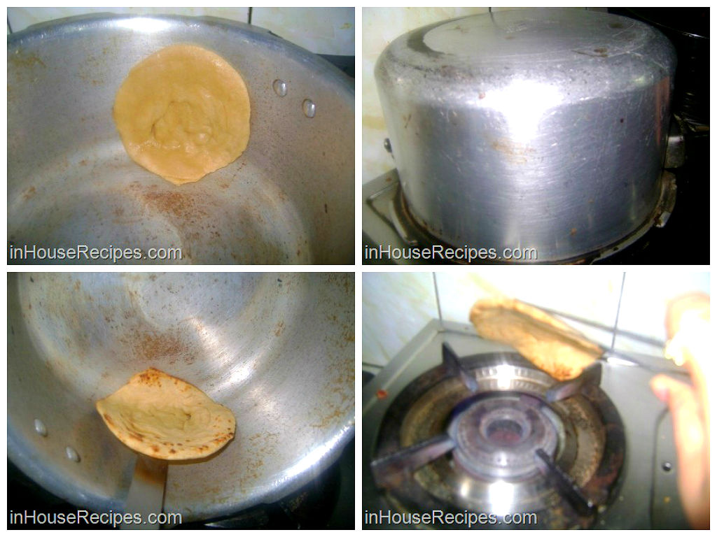 Cook paratha in cooker
