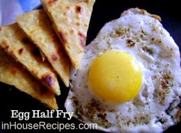 Egg Half Fry with paratha breakfast