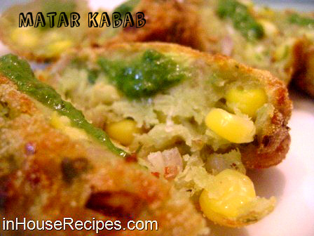 Matar corn cutlet