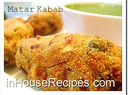 Matar kabab with corn