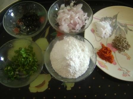 Ingredients for ChickPea Kababs