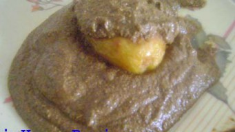 Marinate potato with spices paste