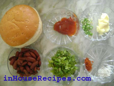 Ingredients for Beans burger