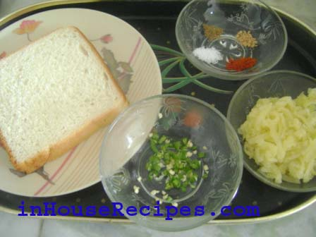 Ingredients for grilled sandwich