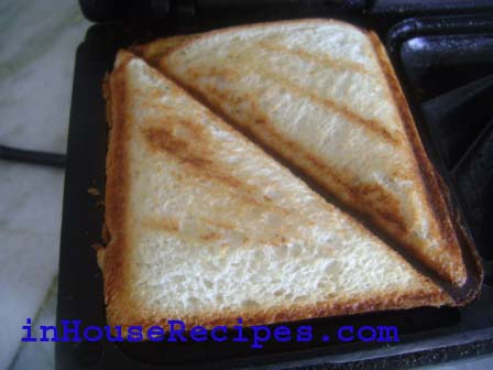 Spicy Potato Toast- once it turned golden brown, take out