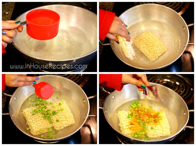 Boiling Maggi for masala maggi