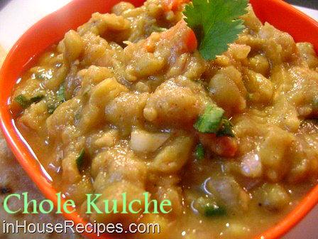 Kulche chole punjabi style