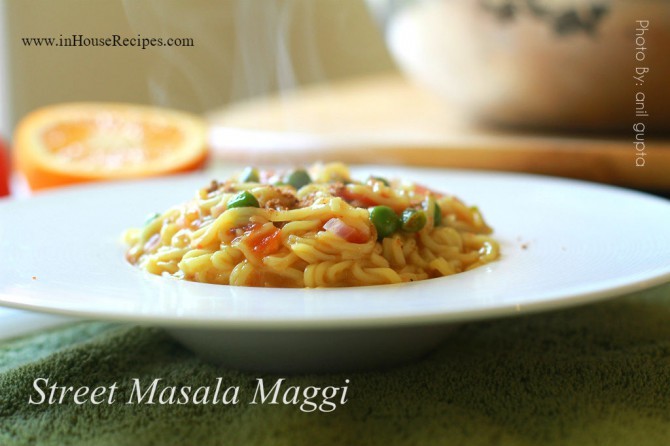 Street Masala Maggi – hot outside office