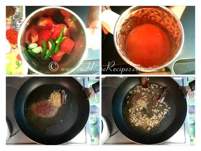 Grind Tomato -garlic-chutney to fine paste