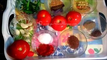 Ingredients for Tomato Garlic chutney