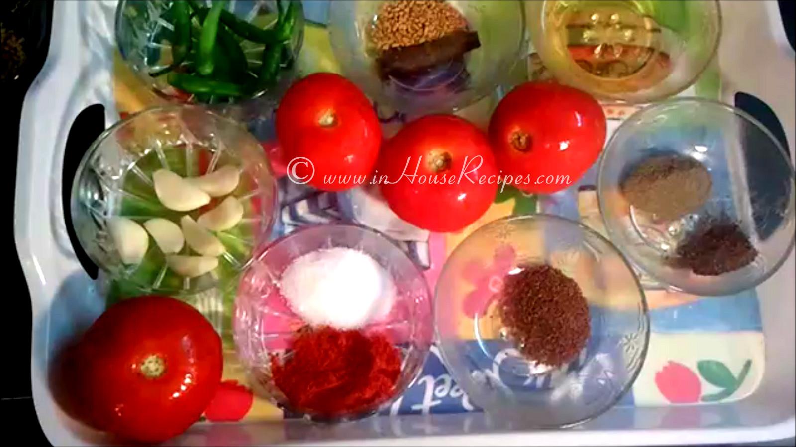 Tomato garlic chutney recipe spicy momos sauce inhouserecipes ingredients for tomato garlic chutney forumfinder Images