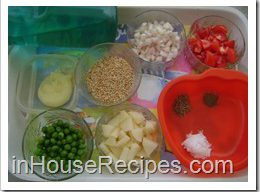 Ingredients for Daliya Pulav