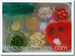 Ingredients for Daliya Pulav