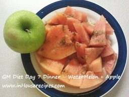 GM diet Day 7 Dinner