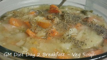 GM diet day 2 - Vegetarian breakfast