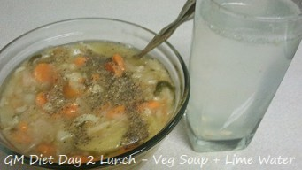 GM diet day 2 - Vegetarian lunch