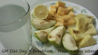 GM diet day 3 - Vegetarian breakfast